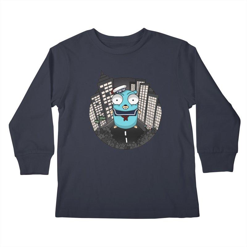 StayPuft Gopher Kids Longsleeve T-Shirt by Women Who Go