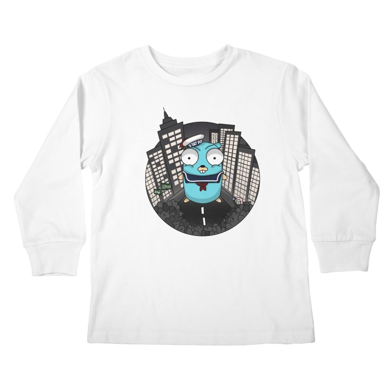 StayPuft Gopher Kids Longsleeve T-Shirt by Women Who Go