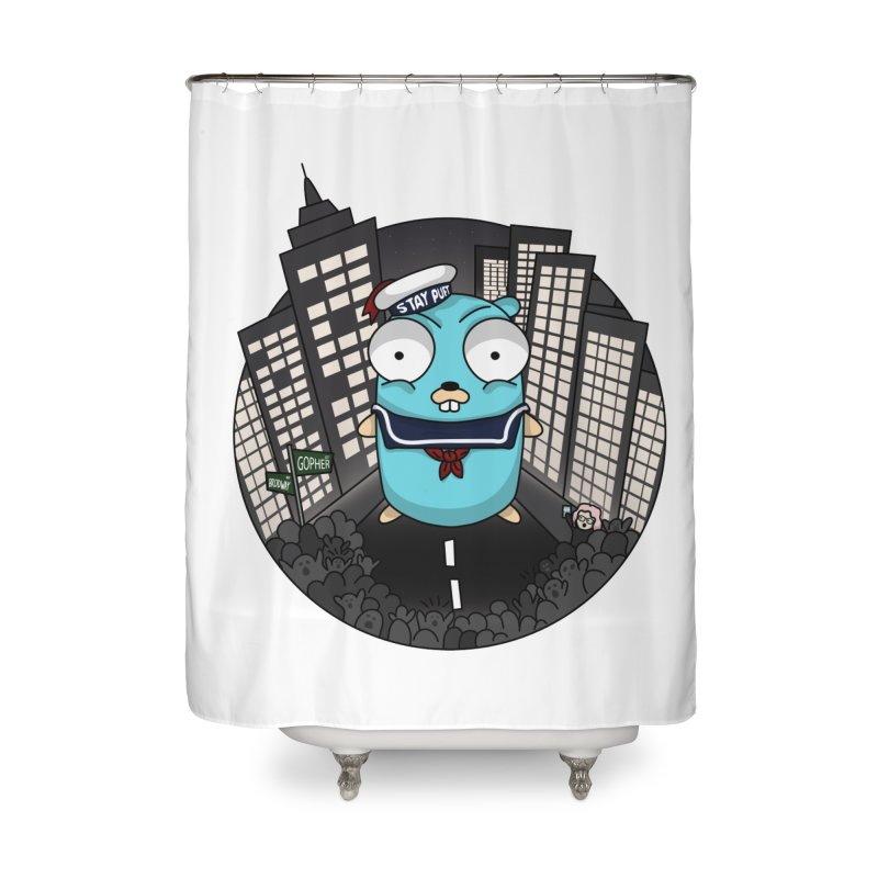 StayPuft Gopher Home Shower Curtain by Women Who Go