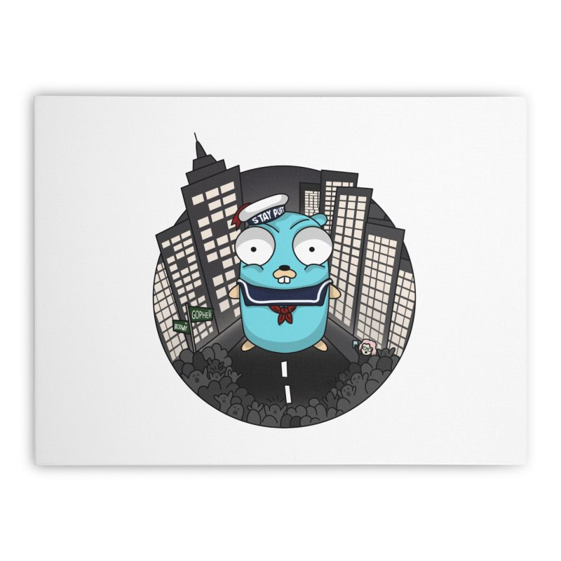 StayPuft Gopher Home Stretched Canvas by Women Who Go