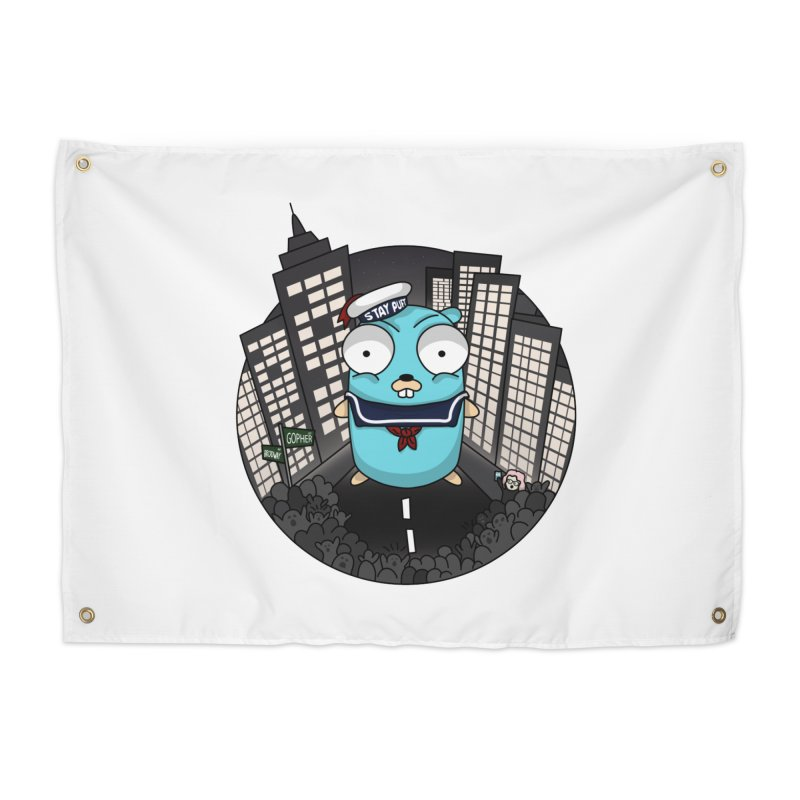 StayPuft Gopher Home Tapestry by Women Who Go