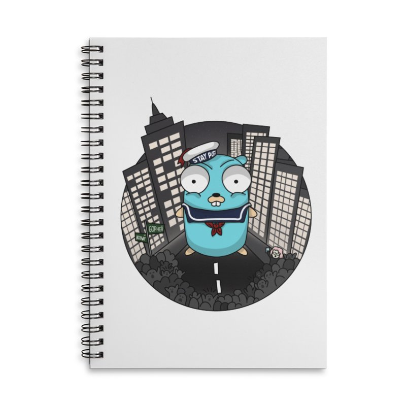 StayPuft Gopher Accessories Lined Spiral Notebook by Women Who Go