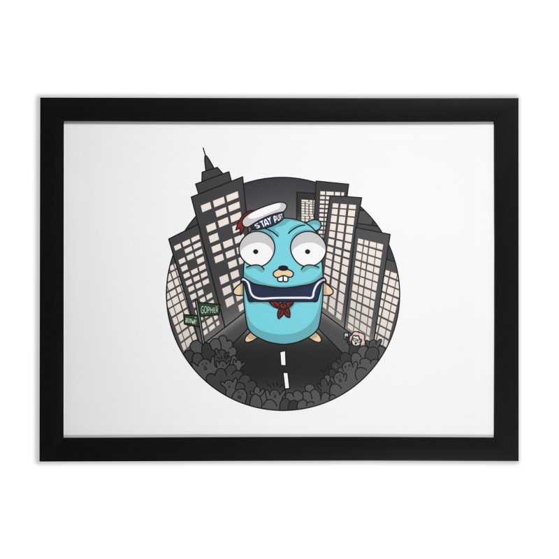 StayPuft Gopher Home Framed Fine Art Print by Women Who Go