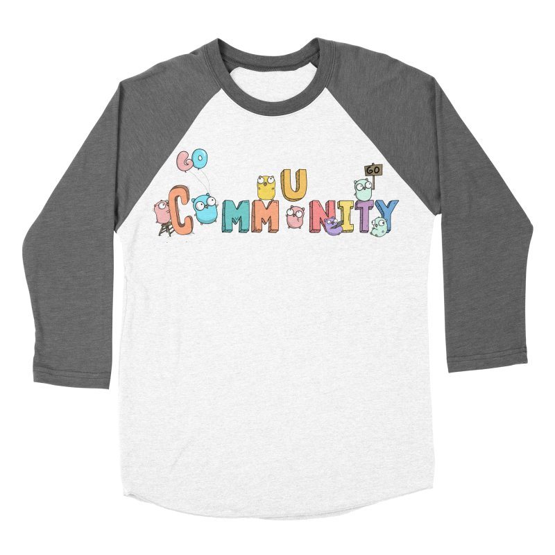 Go Community Men's Baseball Triblend Longsleeve T-Shirt by Women Who Go