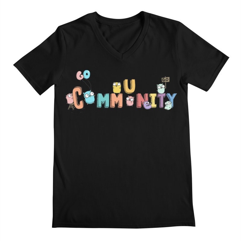 Go Community Men's Regular V-Neck by Women Who Go