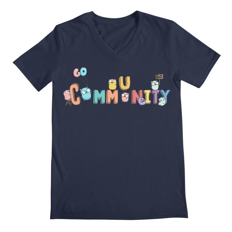 Go Community Men's Regular V-Neck by Women Who Go