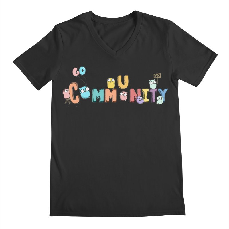 Go Community Men's V-Neck by Women Who Go