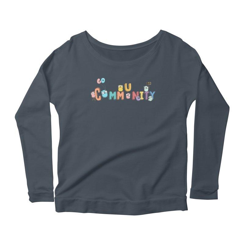 Go Community Women's Scoop Neck Longsleeve T-Shirt by Women Who Go