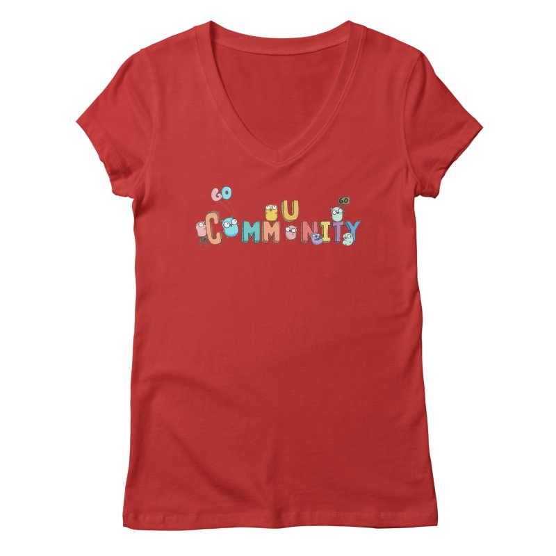 Go Community Women's Regular V-Neck by Women Who Go