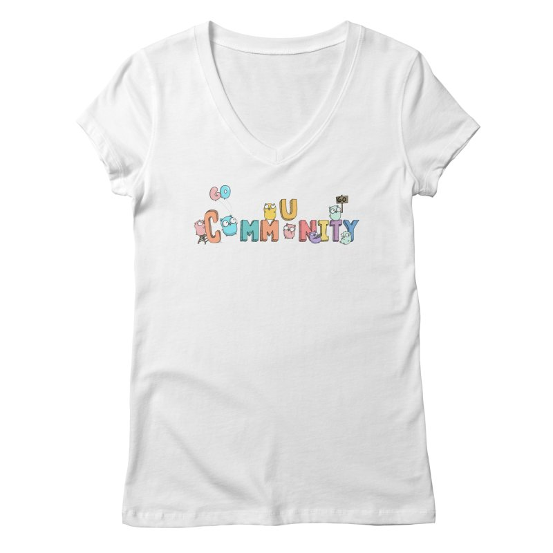 Go Community Women's V-Neck by Women Who Go