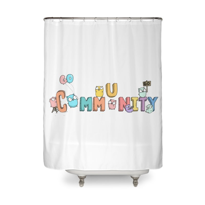 Go Community Home Shower Curtain by Women Who Go