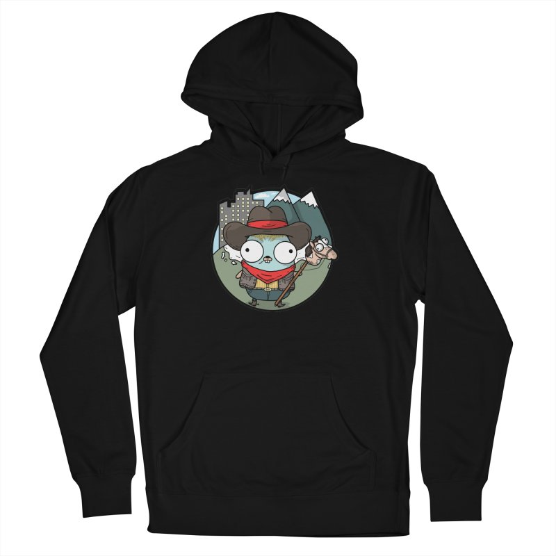 Cowboy Gopher Men's French Terry Pullover Hoody by Women Who Go