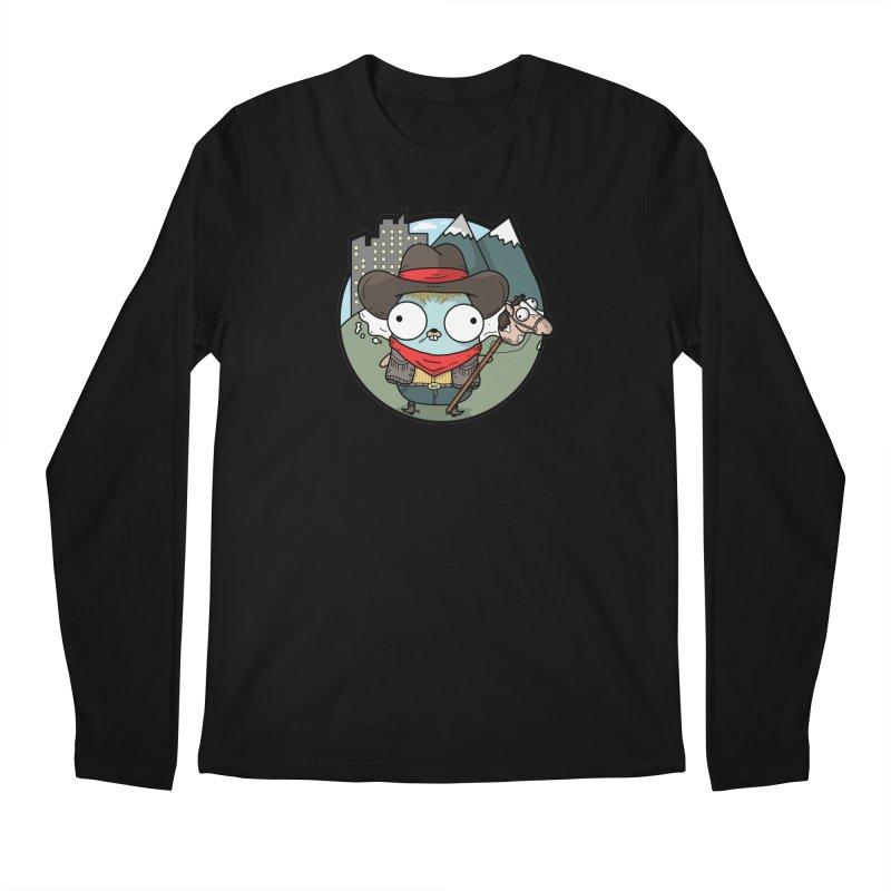 Cowboy Gopher Men's Regular Longsleeve T-Shirt by Women Who Go