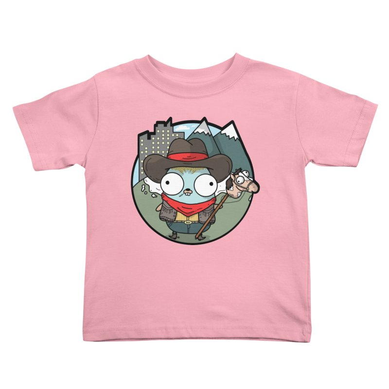 Cowboy Gopher Kids Toddler T-Shirt by Women Who Go