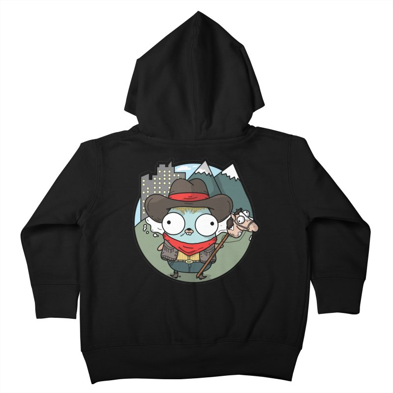 Cowboy Gopher Kids Toddler Zip-Up Hoody by Women Who Go