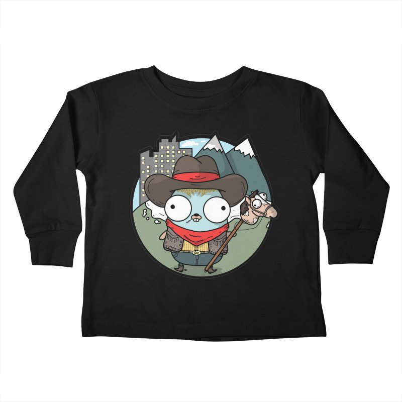 Cowboy Gopher Kids Toddler Longsleeve T-Shirt by Women Who Go