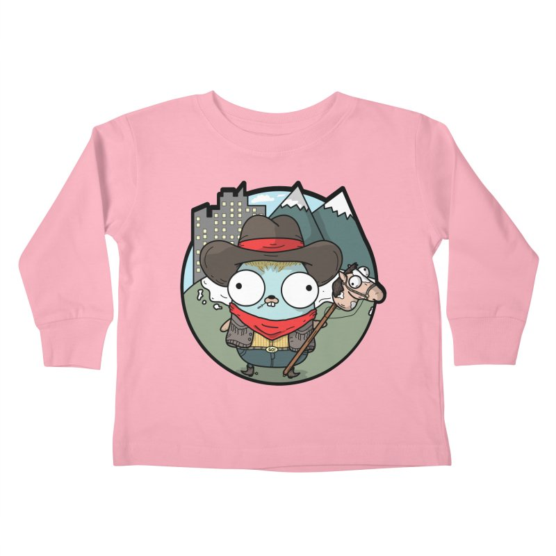 Cowboy Gopher Kids Toddler Longsleeve T-Shirt by Women Who Go