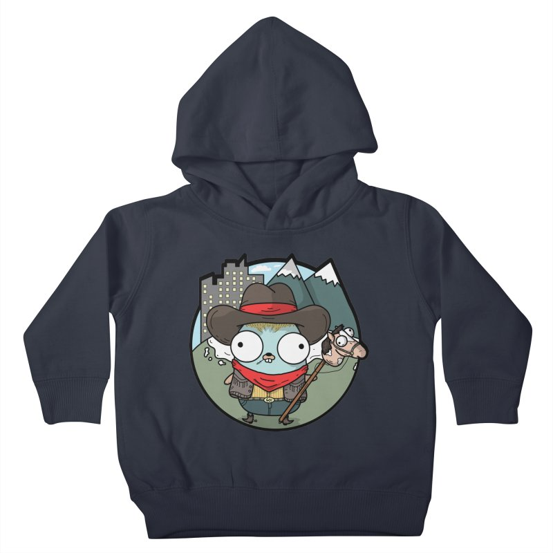 Cowboy Gopher Kids Toddler Pullover Hoody by Women Who Go