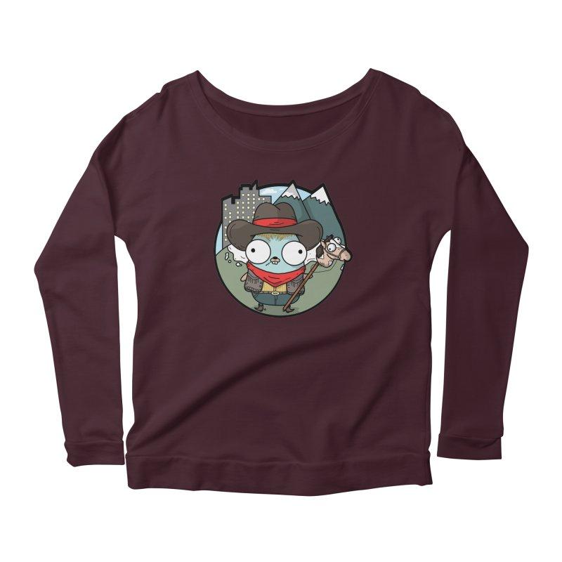 Cowboy Gopher Women's Scoop Neck Longsleeve T-Shirt by Women Who Go