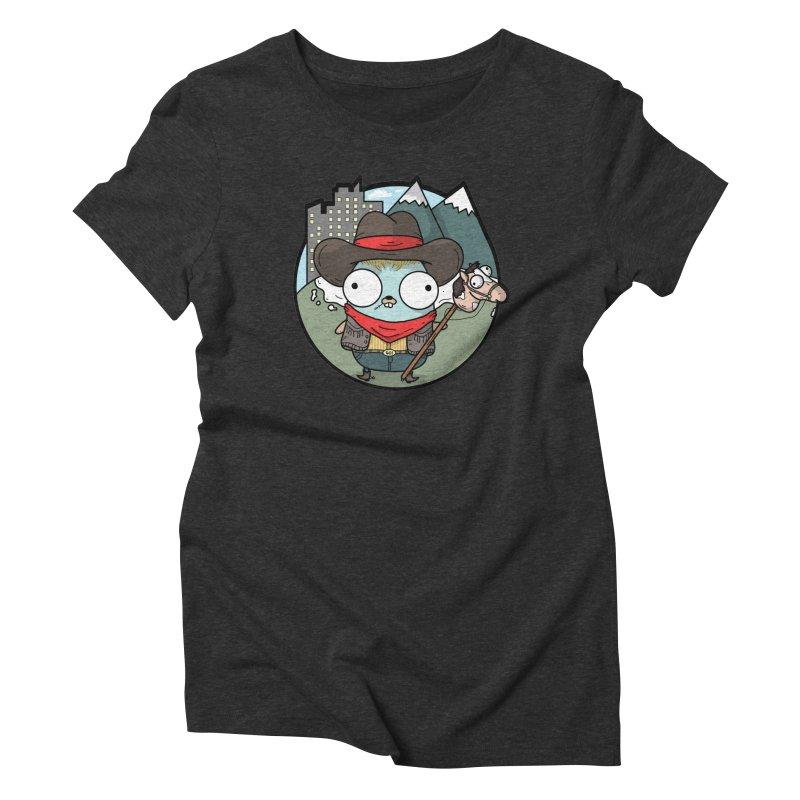 Cowboy Gopher Women's Triblend T-Shirt by Women Who Go