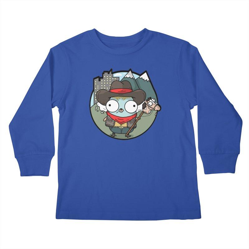 Cowboy Gopher Kids Longsleeve T-Shirt by Women Who Go