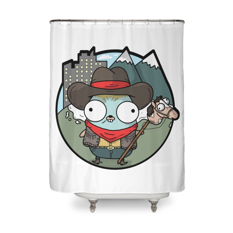 Cowboy Gopher Home Shower Curtain by Women Who Go