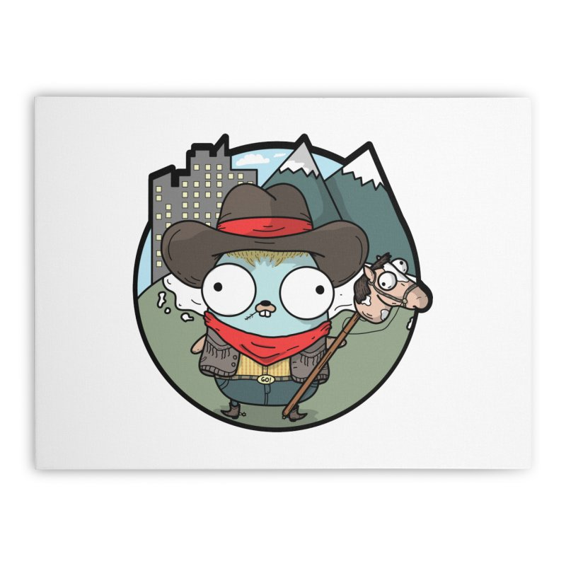 Cowboy Gopher Home Stretched Canvas by Women Who Go
