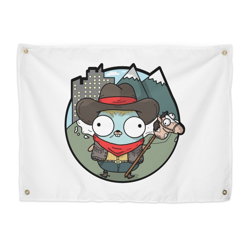 Cowboy Gopher Home Tapestry by Women Who Go
