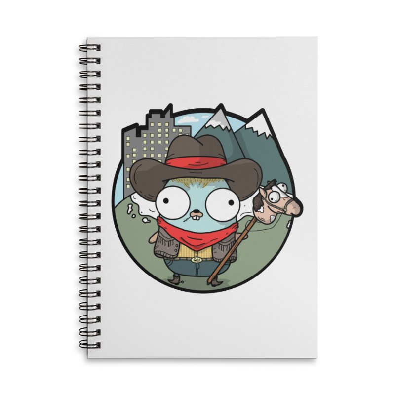 Cowboy Gopher Accessories Lined Spiral Notebook by Women Who Go