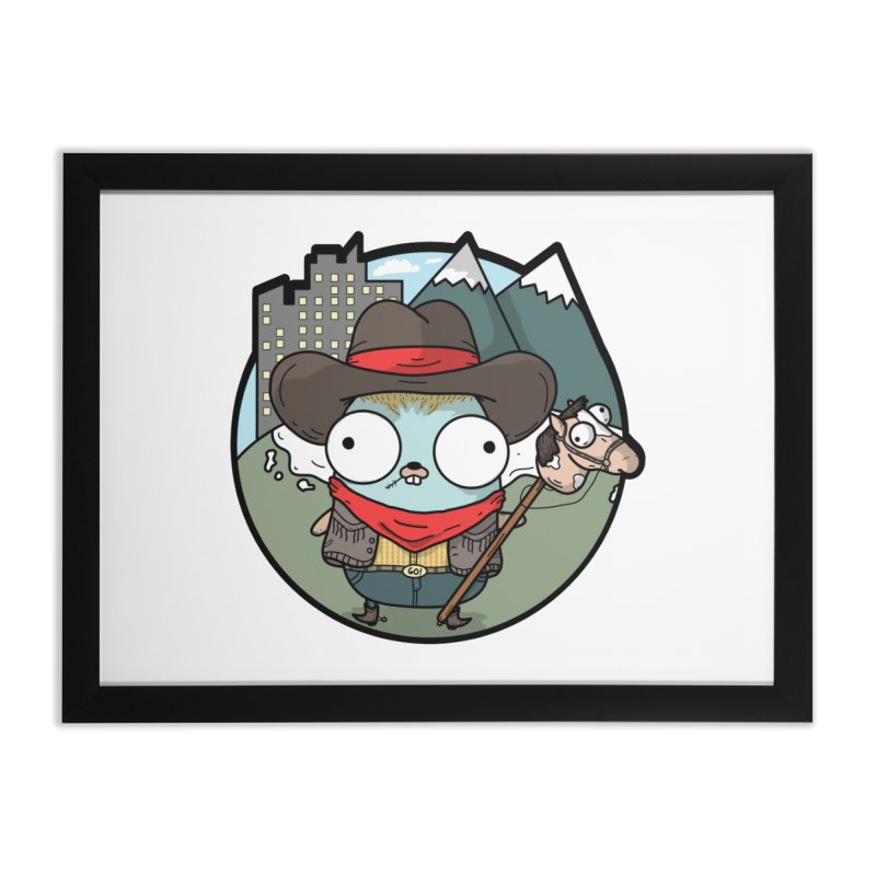 Cowboy Gopher Home Framed Fine Art Print by Women Who Go