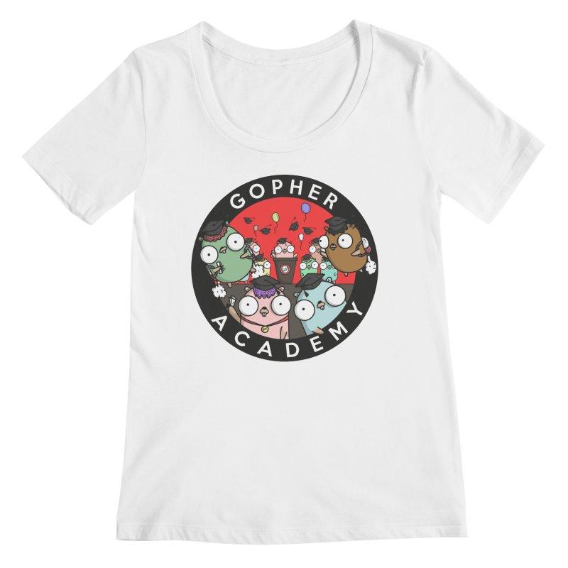 Gopher Academy Women's Regular Scoop Neck by Women Who Go