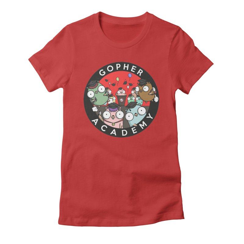 Gopher Academy Women's Fitted T-Shirt by Women Who Go