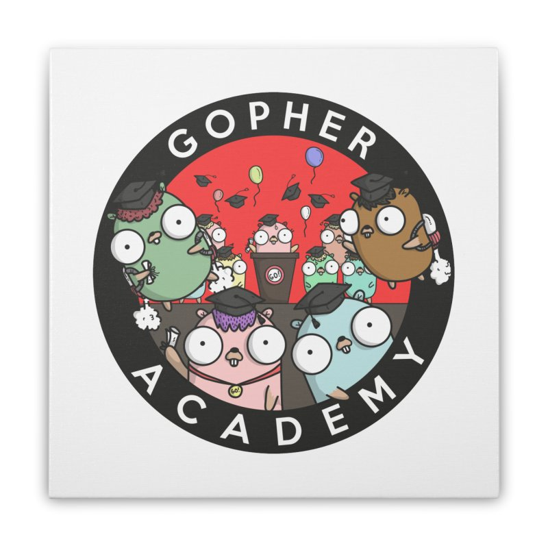 Gopher Academy Home Stretched Canvas by Women Who Go