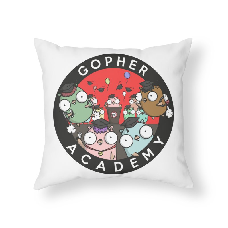 Gopher Academy Home Throw Pillow by Women Who Go