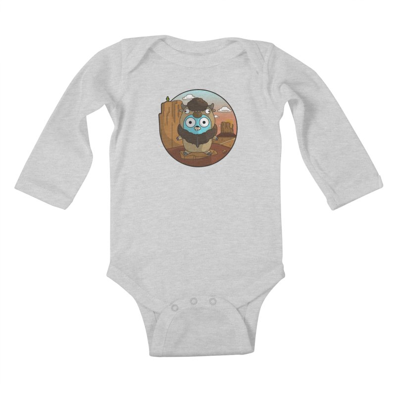 Original GoBuffalo Kids Baby Longsleeve Bodysuit by Women Who Go