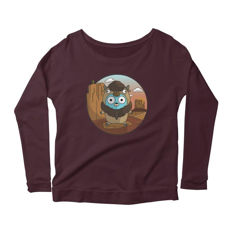 Original GoBuffalo Women's Scoop Neck Longsleeve T-Shirt by Women Who Go
