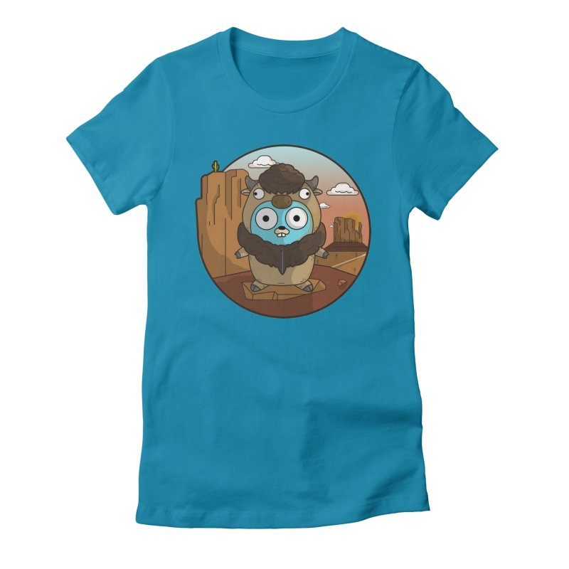 Original GoBuffalo Women's Fitted T-Shirt by Women Who Go