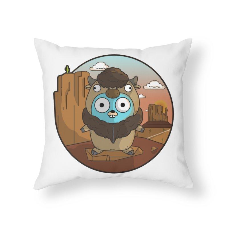 Original GoBuffalo Home Throw Pillow by Women Who Go