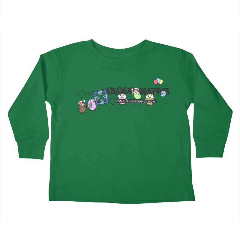 CNCF Gophers Kids Toddler Longsleeve T-Shirt by Women Who Go