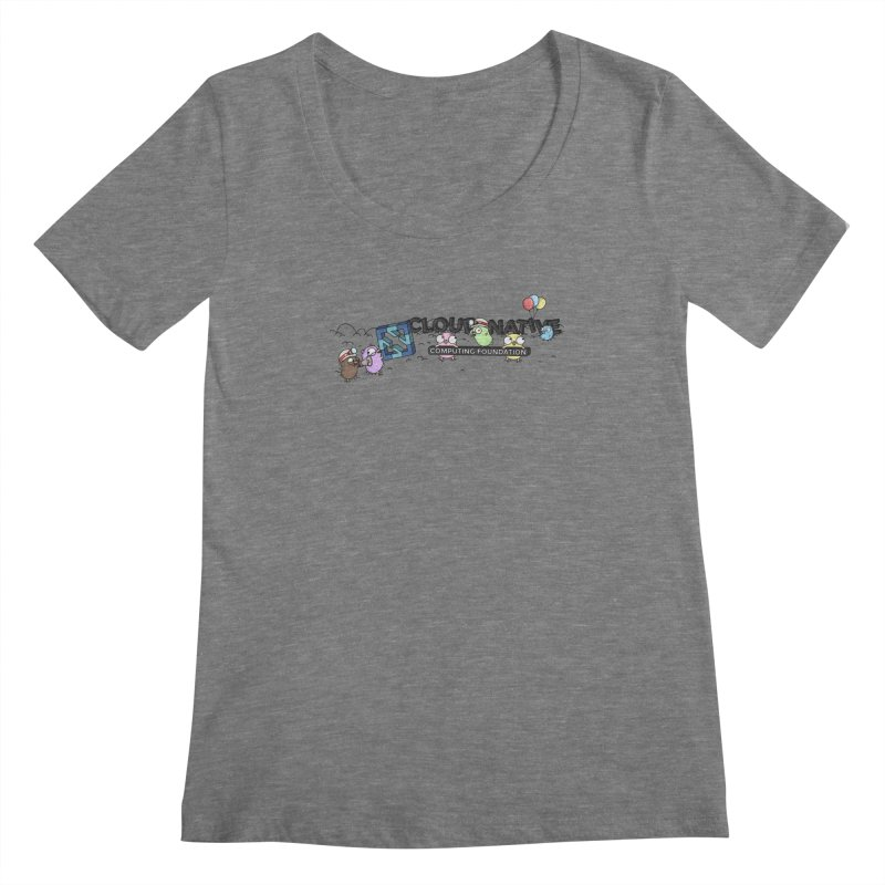 CNCF Gophers Women's Regular Scoop Neck by Women Who Go