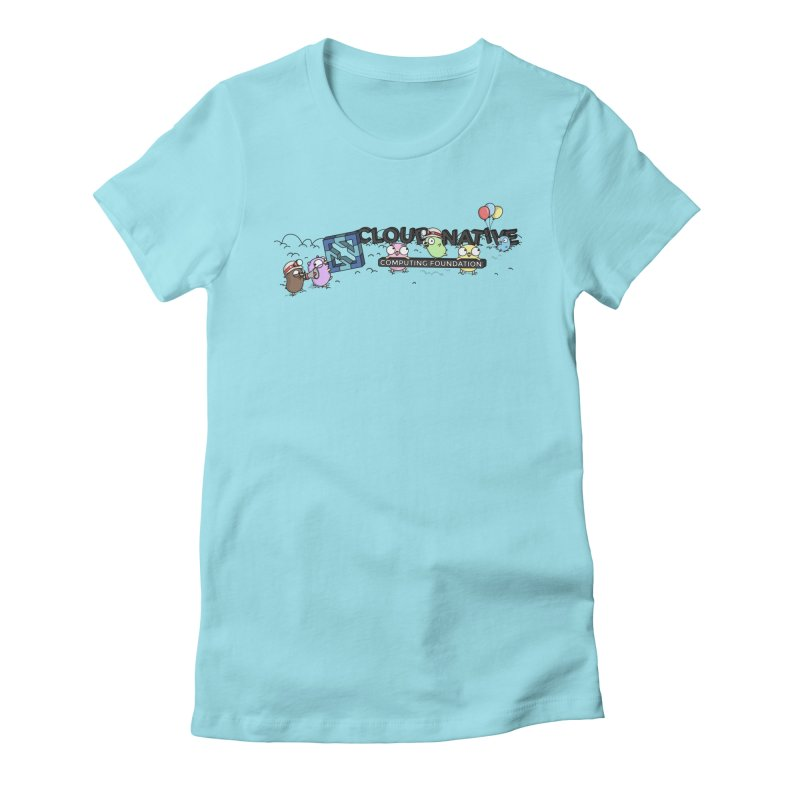 CNCF Gophers Women's Fitted T-Shirt by Women Who Go