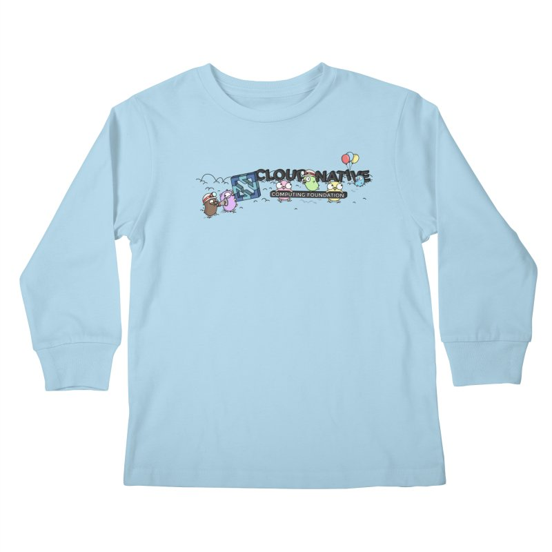 CNCF Gophers Kids Longsleeve T-Shirt by Women Who Go