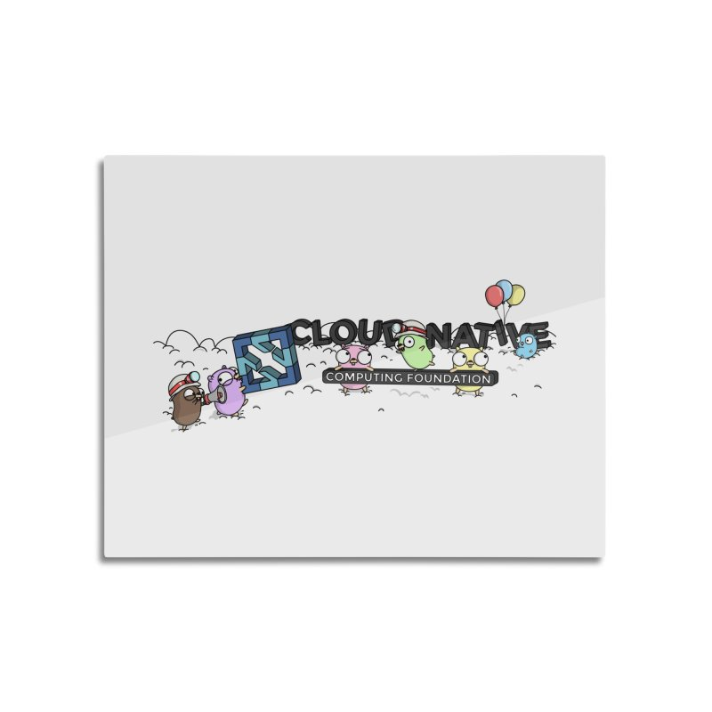 CNCF Gophers Home Mounted Aluminum Print by Women Who Go