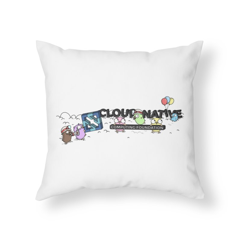 CNCF Gophers Home Throw Pillow by Women Who Go