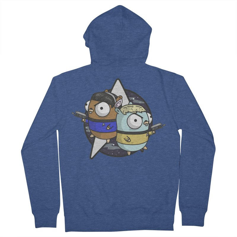 Star Gophers Men's French Terry Zip-Up Hoody by Women Who Go
