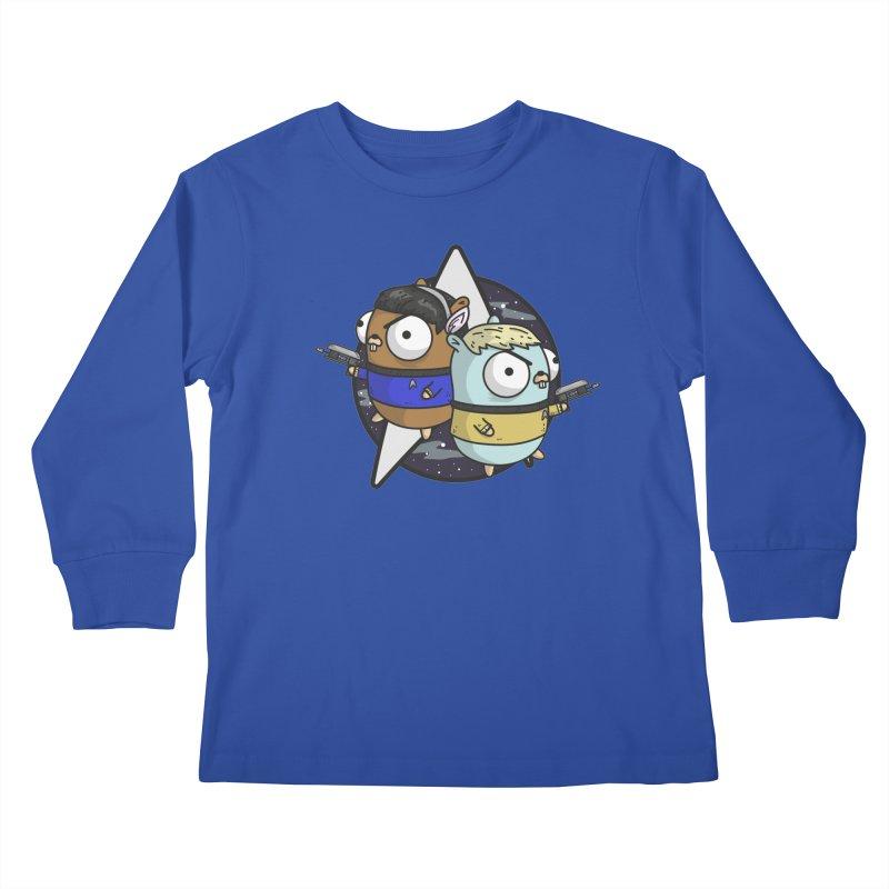 Star Gophers Kids Longsleeve T-Shirt by Women Who Go
