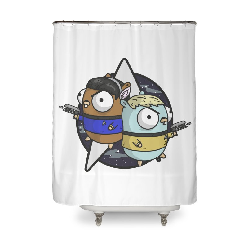 Star Gophers Home Shower Curtain by Women Who Go