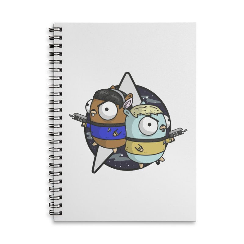 Star Gophers Accessories Lined Spiral Notebook by Women Who Go