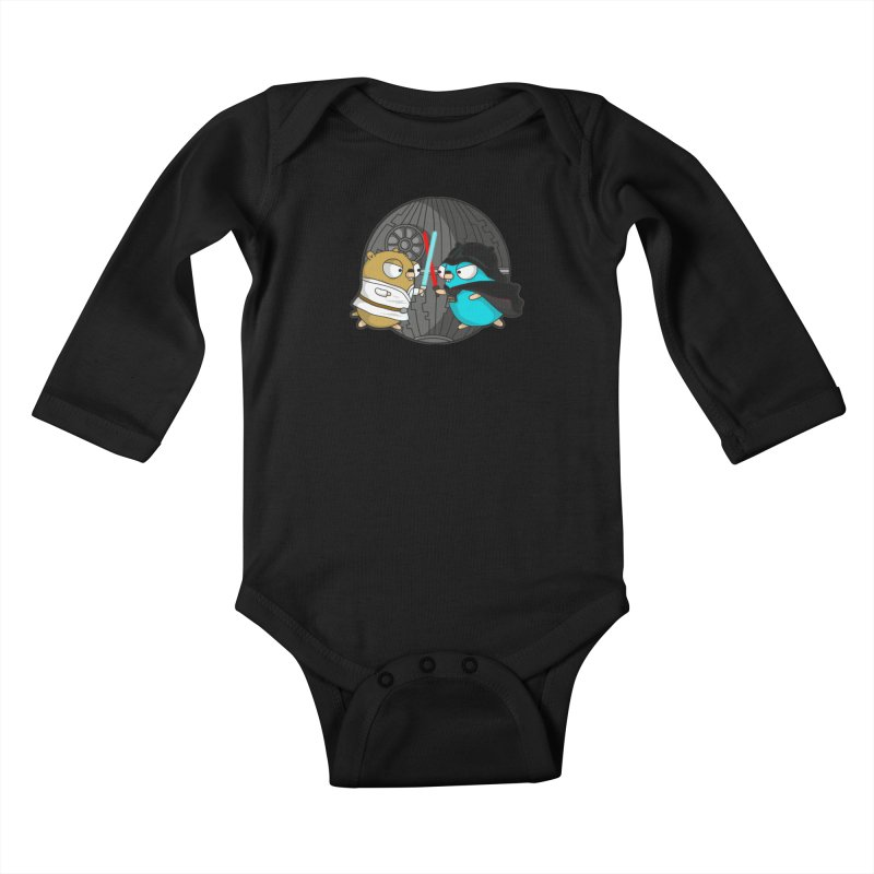 Gopher Wars Kids Baby Longsleeve Bodysuit by Women Who Go