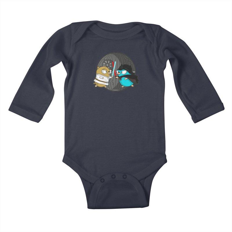 Gopher Wars Kids Baby Longsleeve Bodysuit by Women Who Go